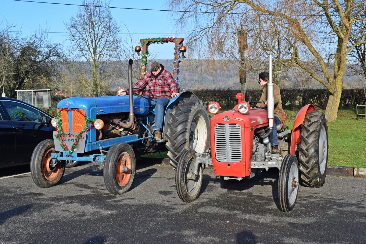 First 2 tractors