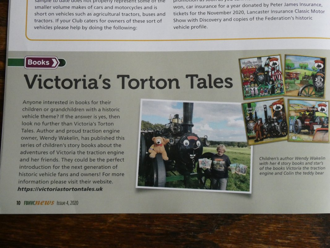 The small article in the magazine