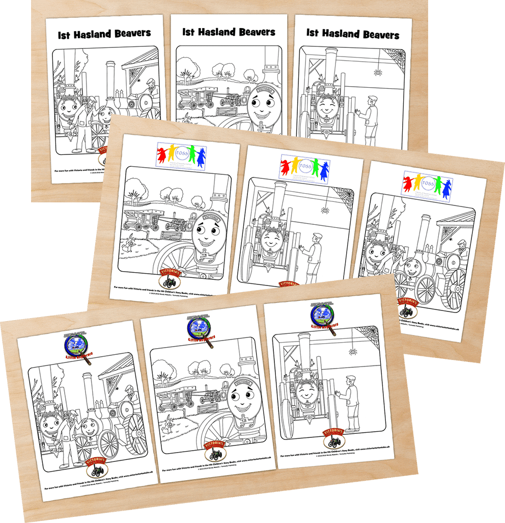 1st Hasland Beavers Friends of Staverton School and Little Explorers free colouring pics from Victorias Torton Tales