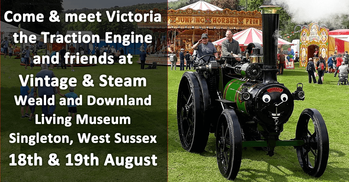 Come and meet Victoria the Traction Engine and friends at Vintage and Steam
