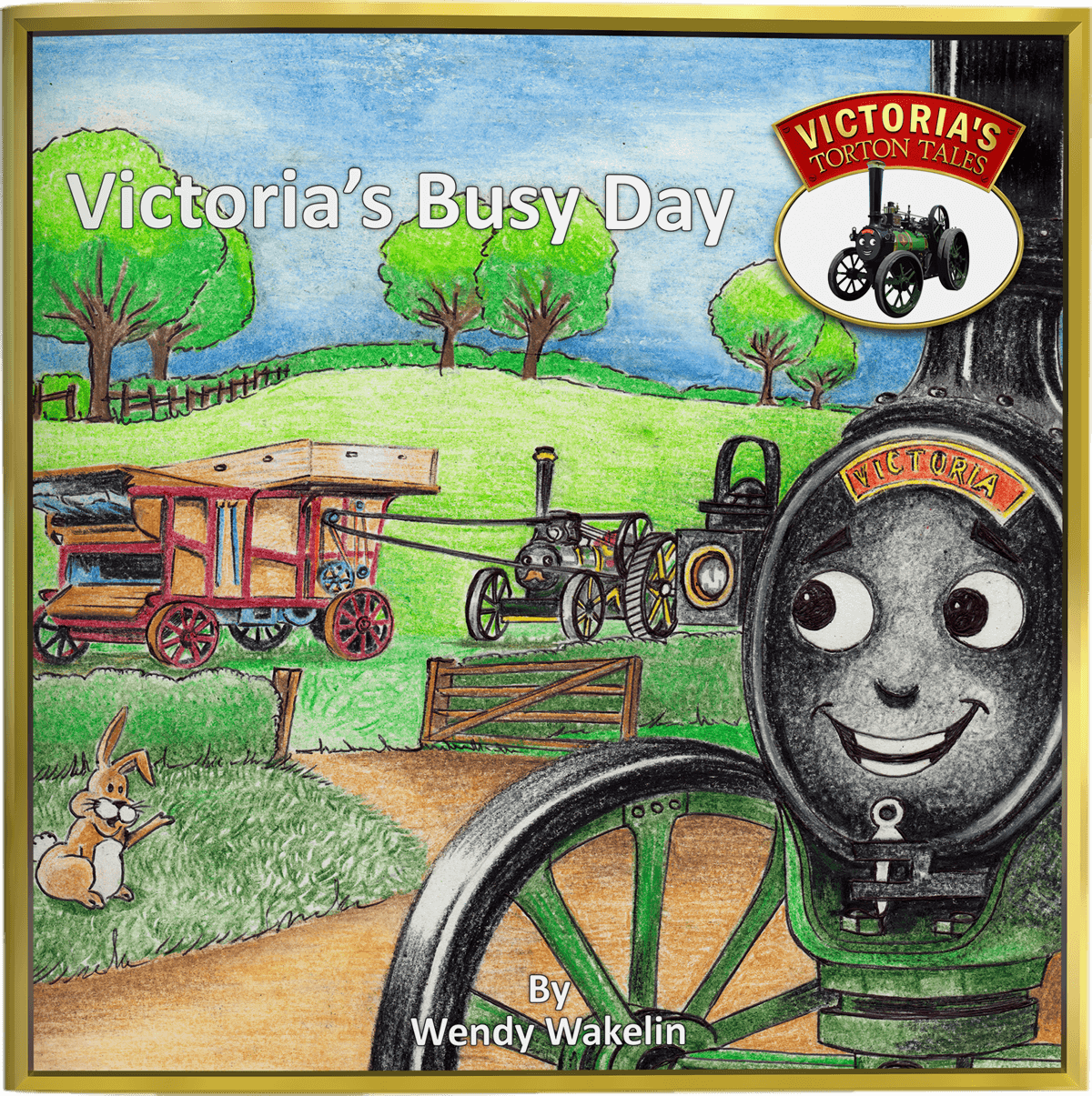 Cover of Victoria's Busy Day from Victoria's Torton Tales children's storybooks