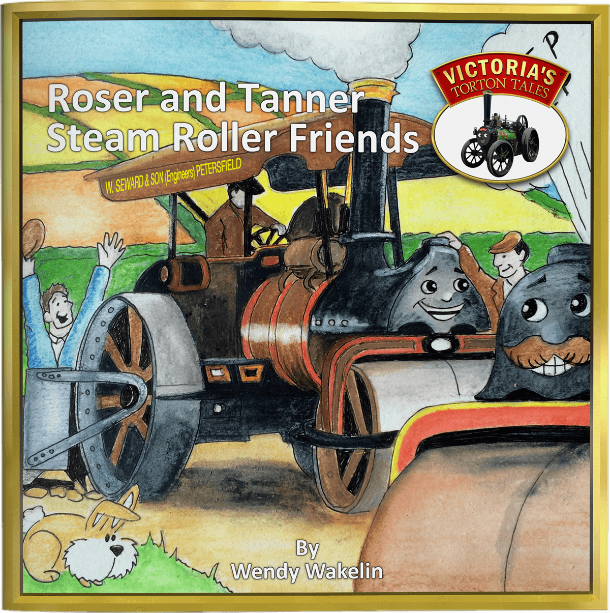 Roser and Tanner Steam Roller Friends Childrens Picture Story Book