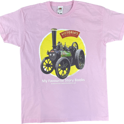 Victoria the traction engine t-shirt pink aged 9-11