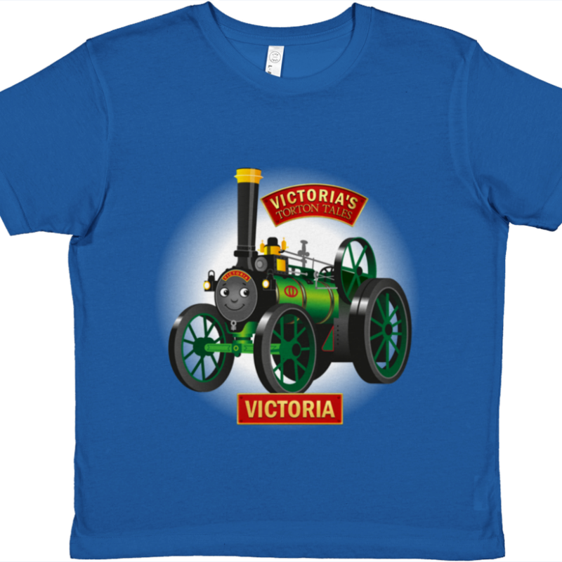 Victoria the Traction Engine, Kids T-Shirt