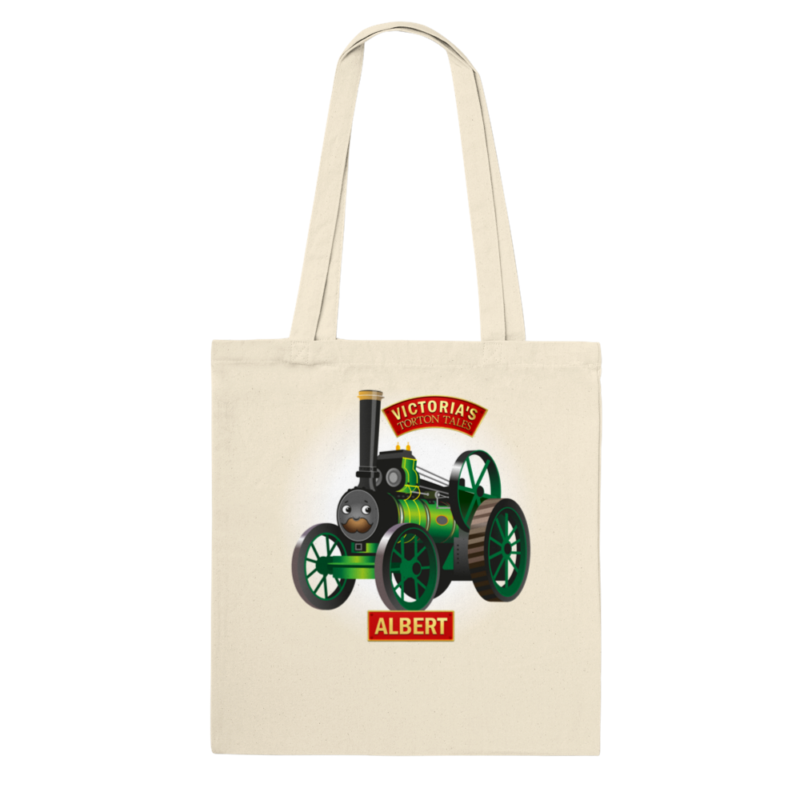Albert the Traction Engine Cotton Tote Bag