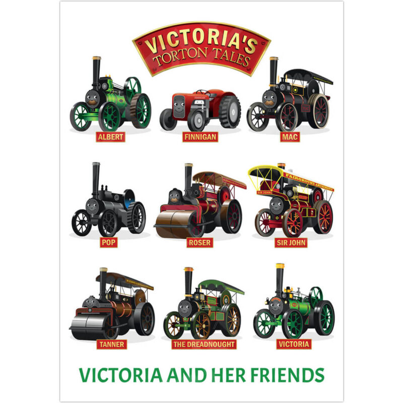 A3 Victoria and Her Friends Poster - Product Photo