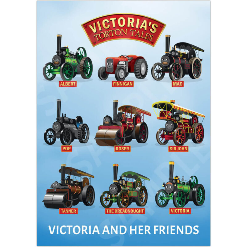 A3 Victoria and Her Friends Steam Clouds - Product Photo
