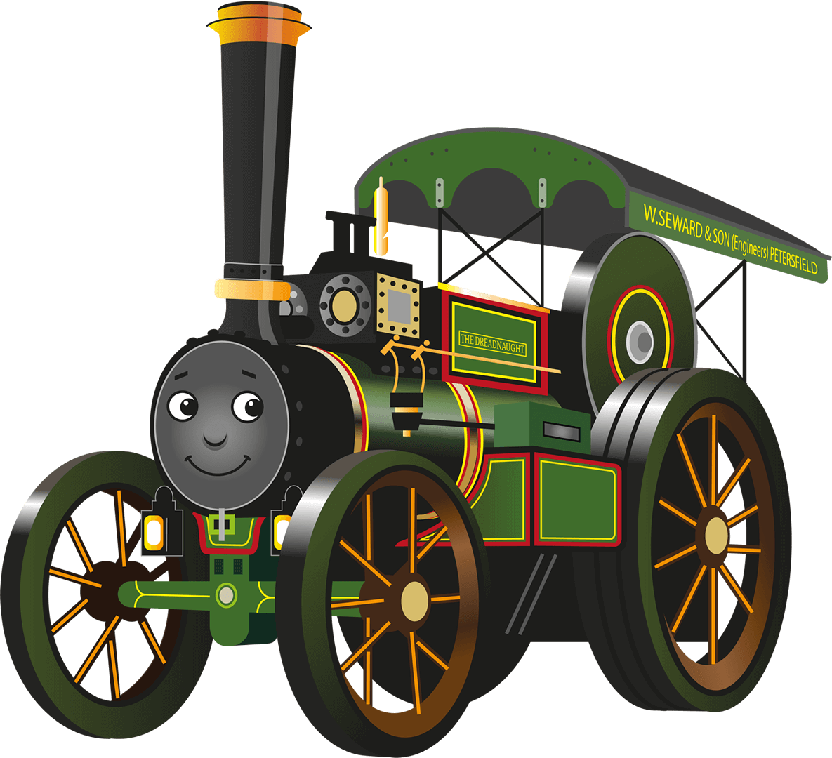 The Dreadnought the Road Locomotive