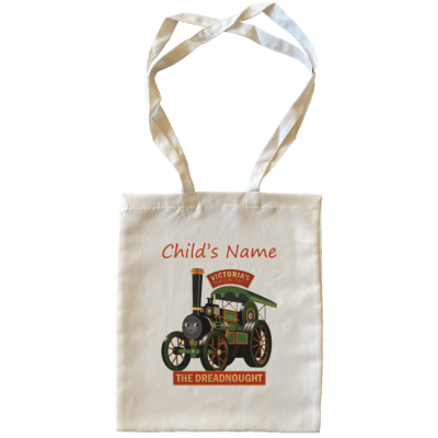 Dreadnought Child's Name Large Tote Bags