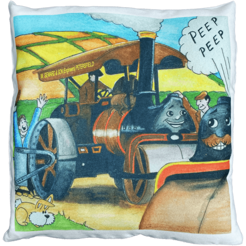 Roser and Tanner Steam Roller Friends Storybook Cover Cushion