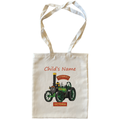 Victoria Child's Name Large Tote Bags