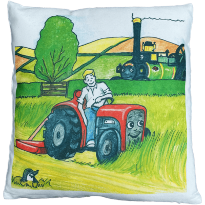 Victoria Meets Finnigan Storybook Cover Cushion