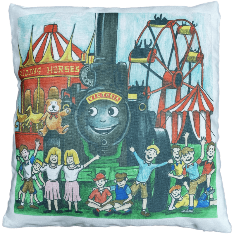 Victoria and the Teddy Bear Storybook Cover Cushion